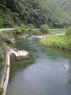 黒川 中島橋上流